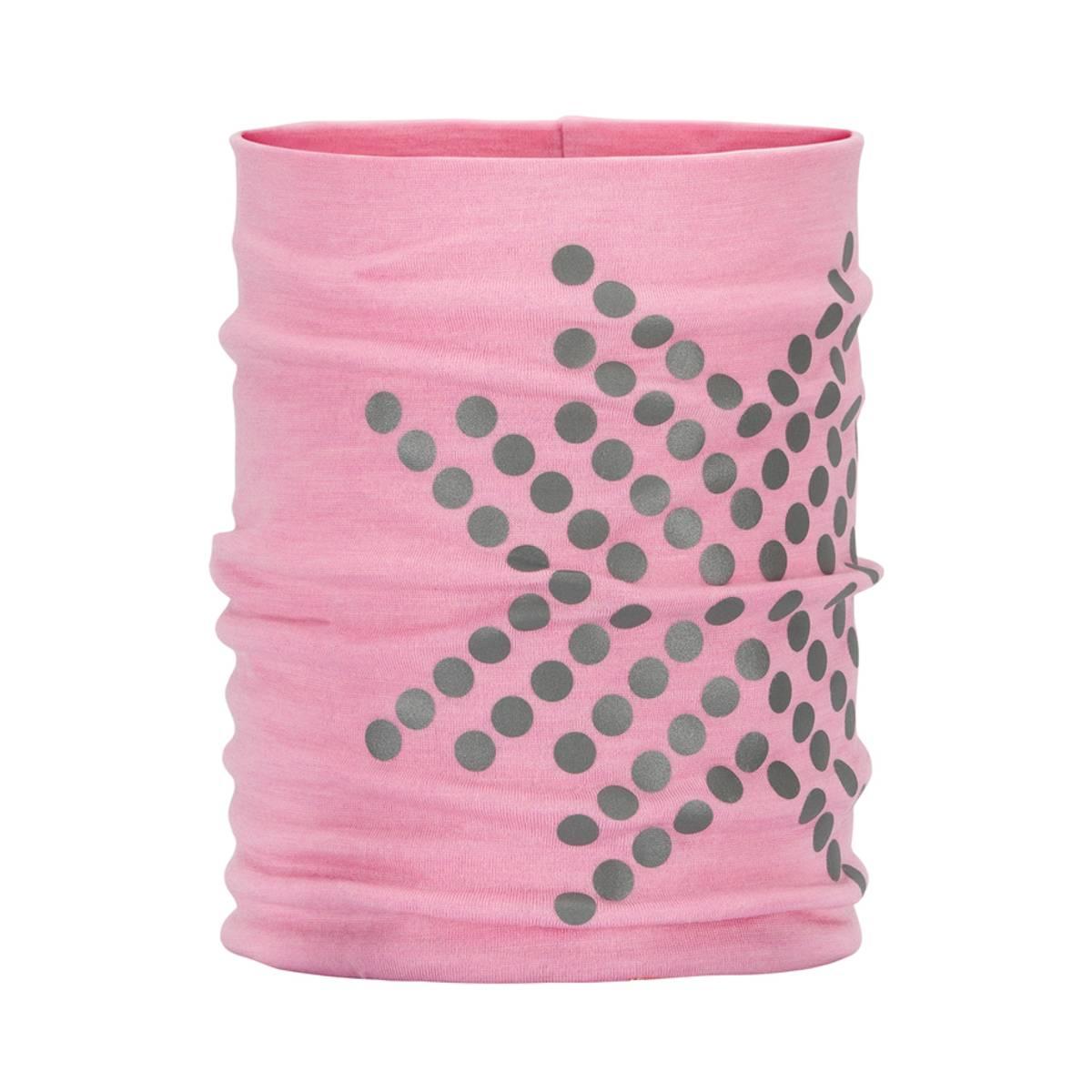 Morild Sølvfaks hals med refleks, lys rosa