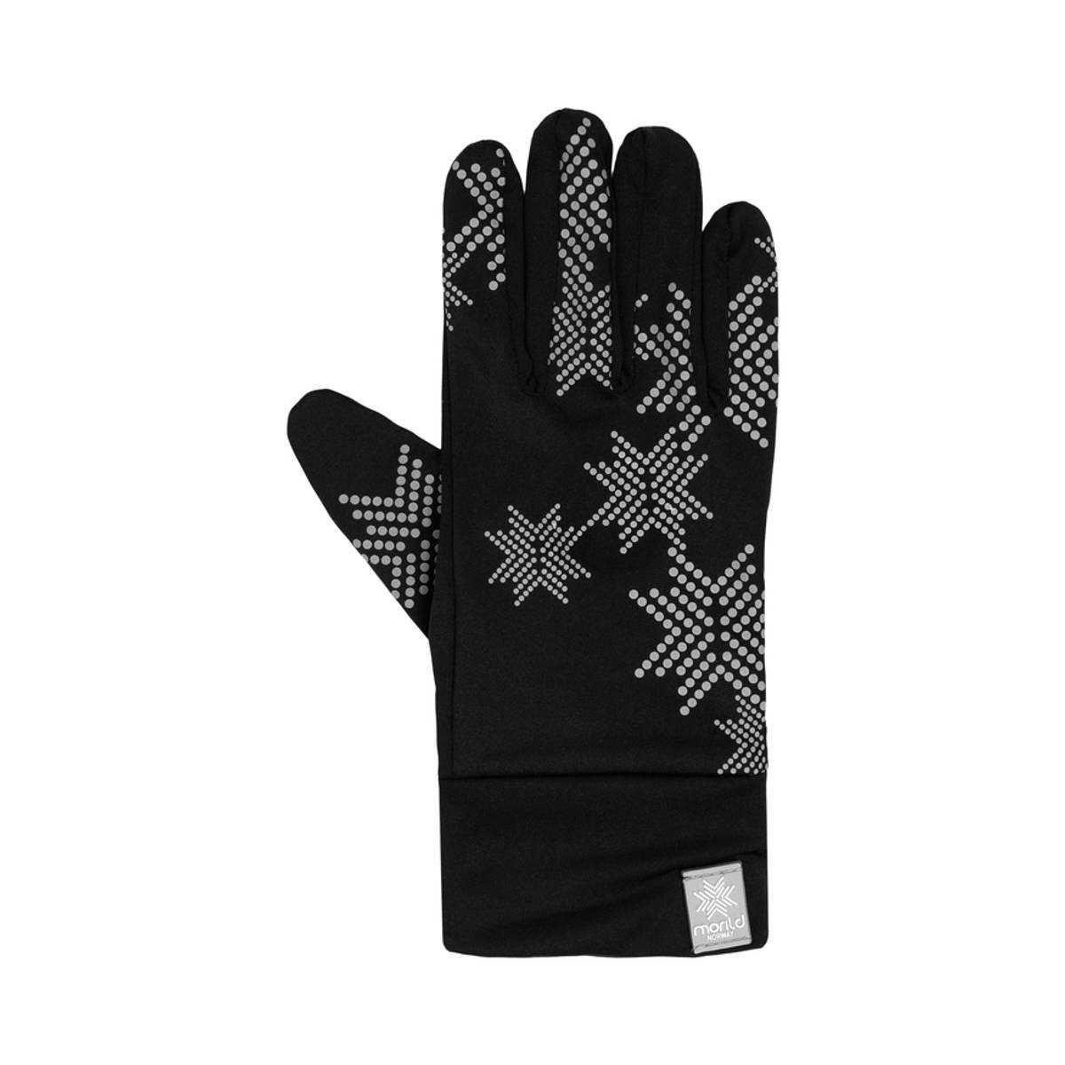 Morild Skimre hanske med refleks, sort
