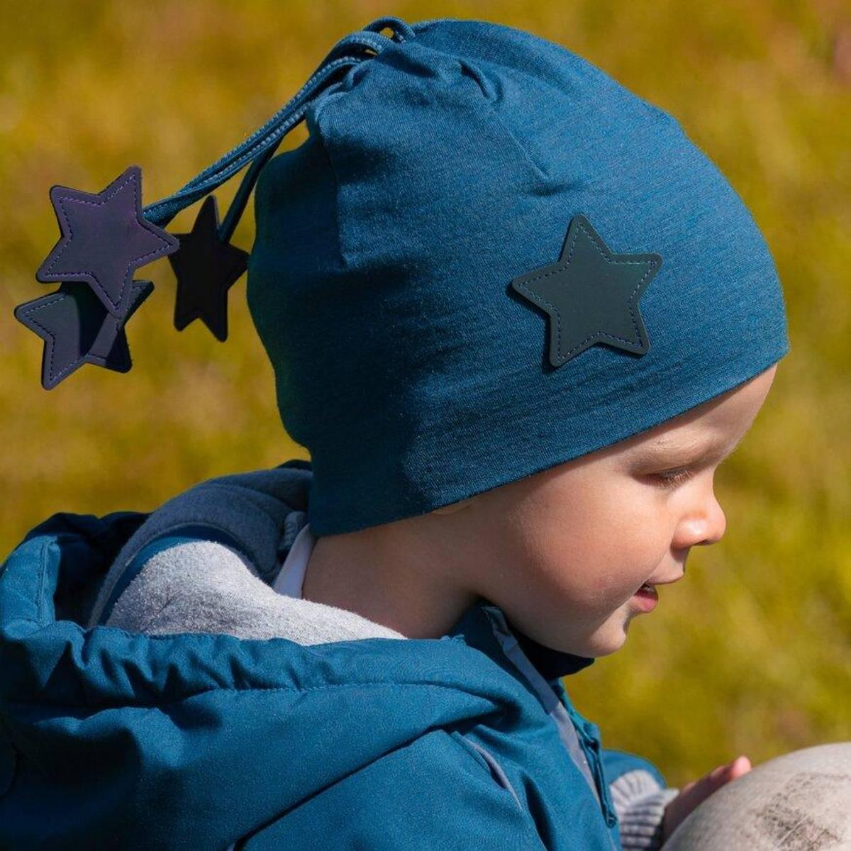Morild Nordstjerne lue med refleks, midnattsblå