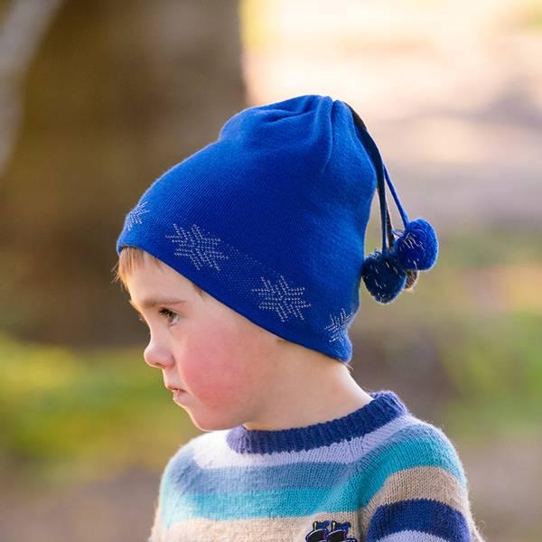 Bilde av Morild Fonn lue med refleks, klar blå