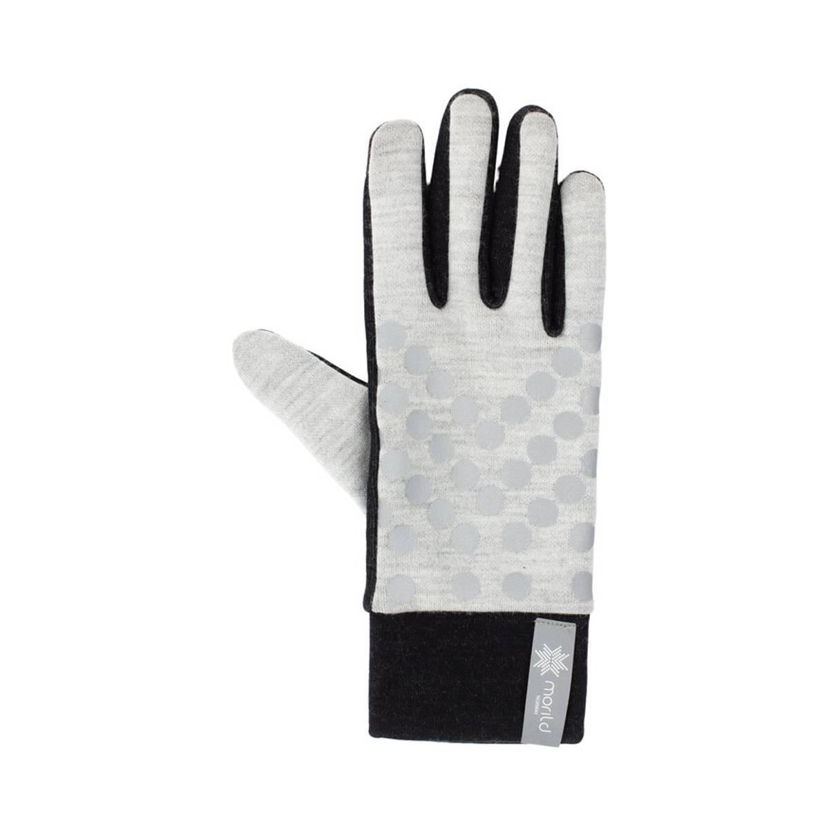 Morild Sølvfaks hansker med refleks, lys grå