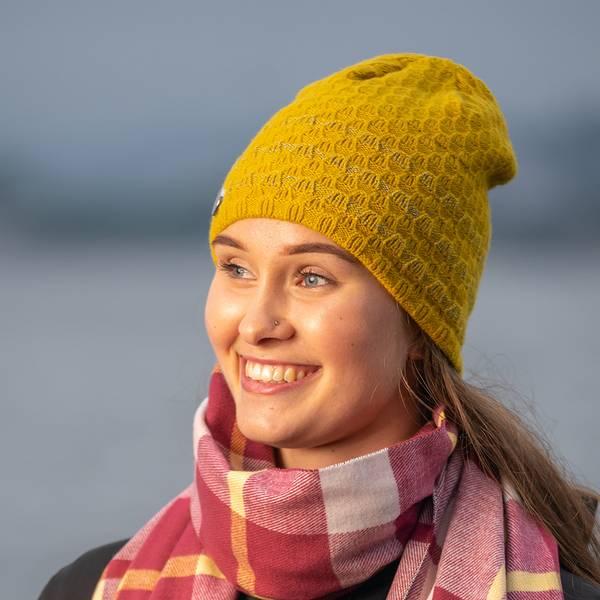 Bilde av Morild Mork lue med refleks, gul