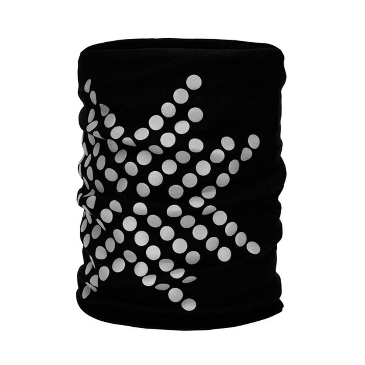 Morild Sølvfaks hals med refleks, sort