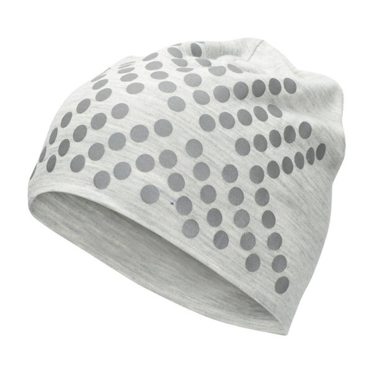 Morild Sølvfaks lue med refleks, lys grå
