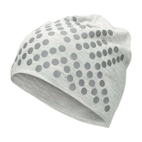 Bilde av Morild Sølvfaks lue med refleks, lys grå