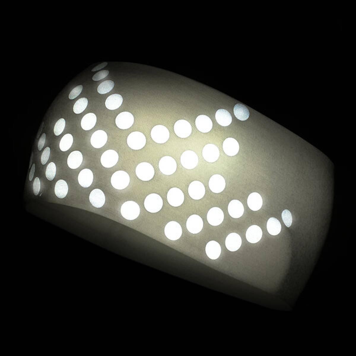 Morild Sølvfaks pannebånd med refleks, hvit