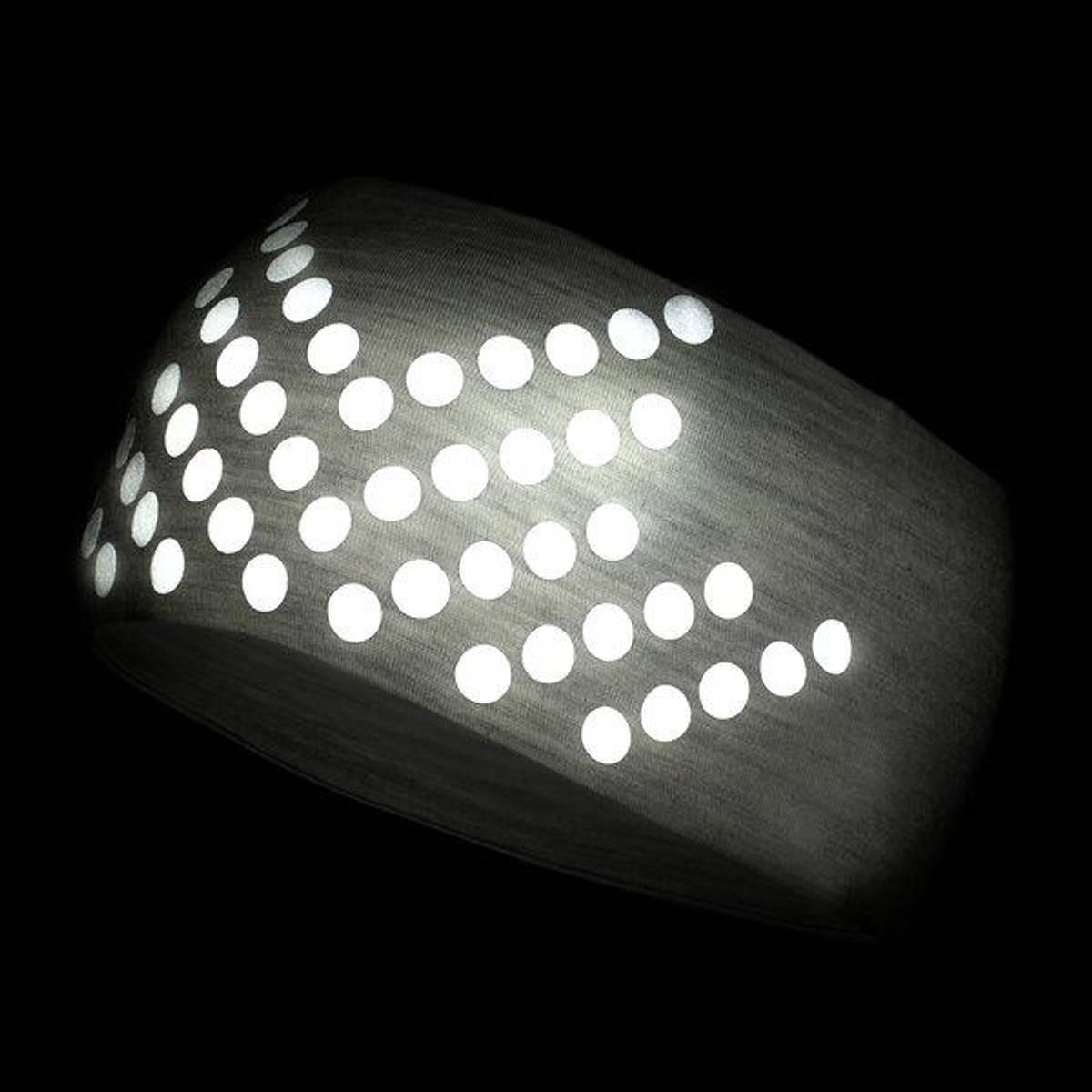 Morild Sølvfaks pannebånd med refleks, lys grå