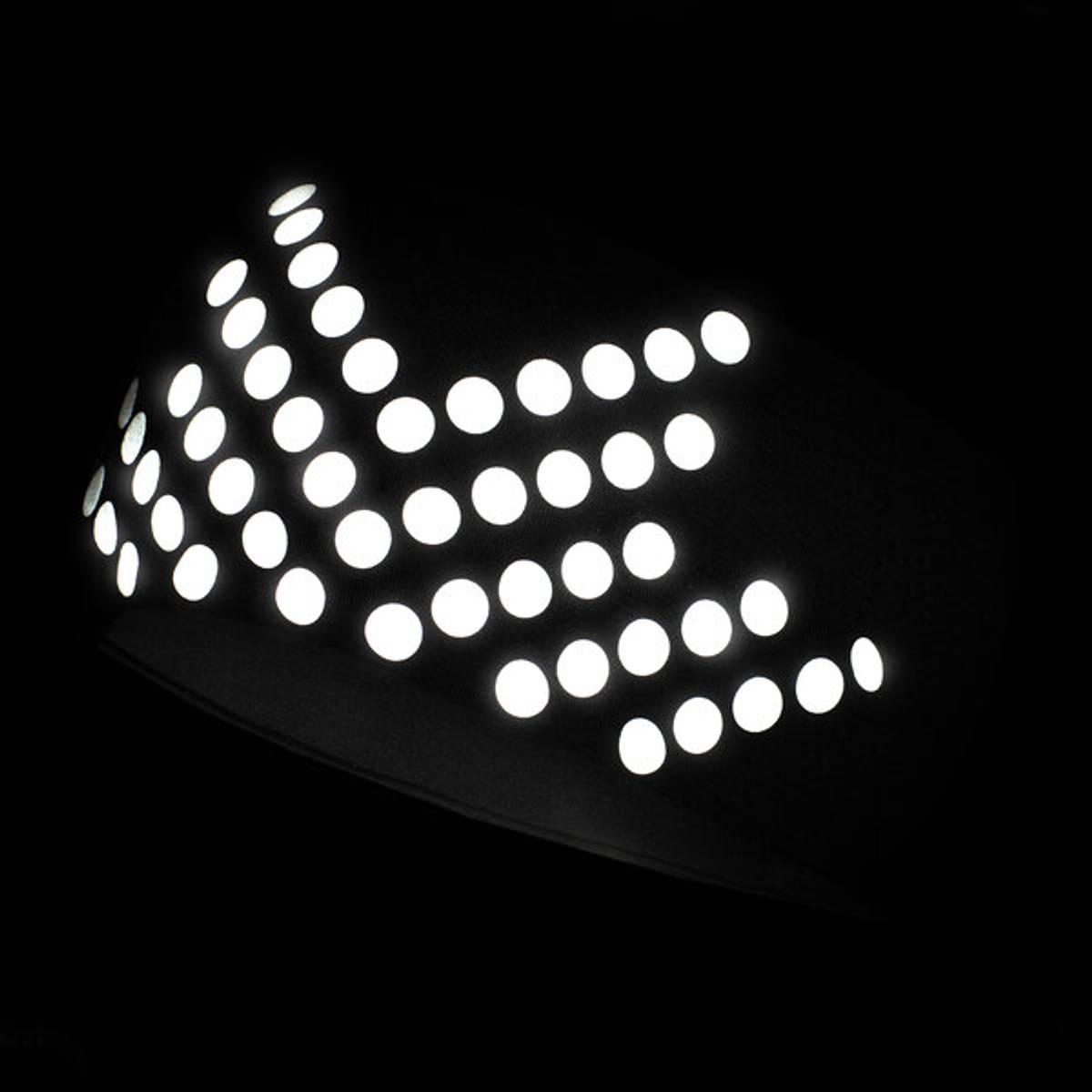 Morild Sølvfaks pannebånd med refleks, sort
