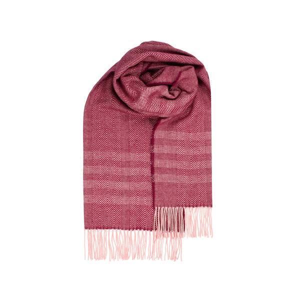 Bilde av Morild Faun skjerf med refleks, burgunder og rosa