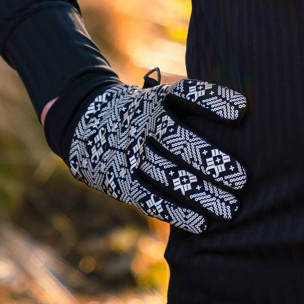 Bilde av Morild Glitre hansker med refleks, sort