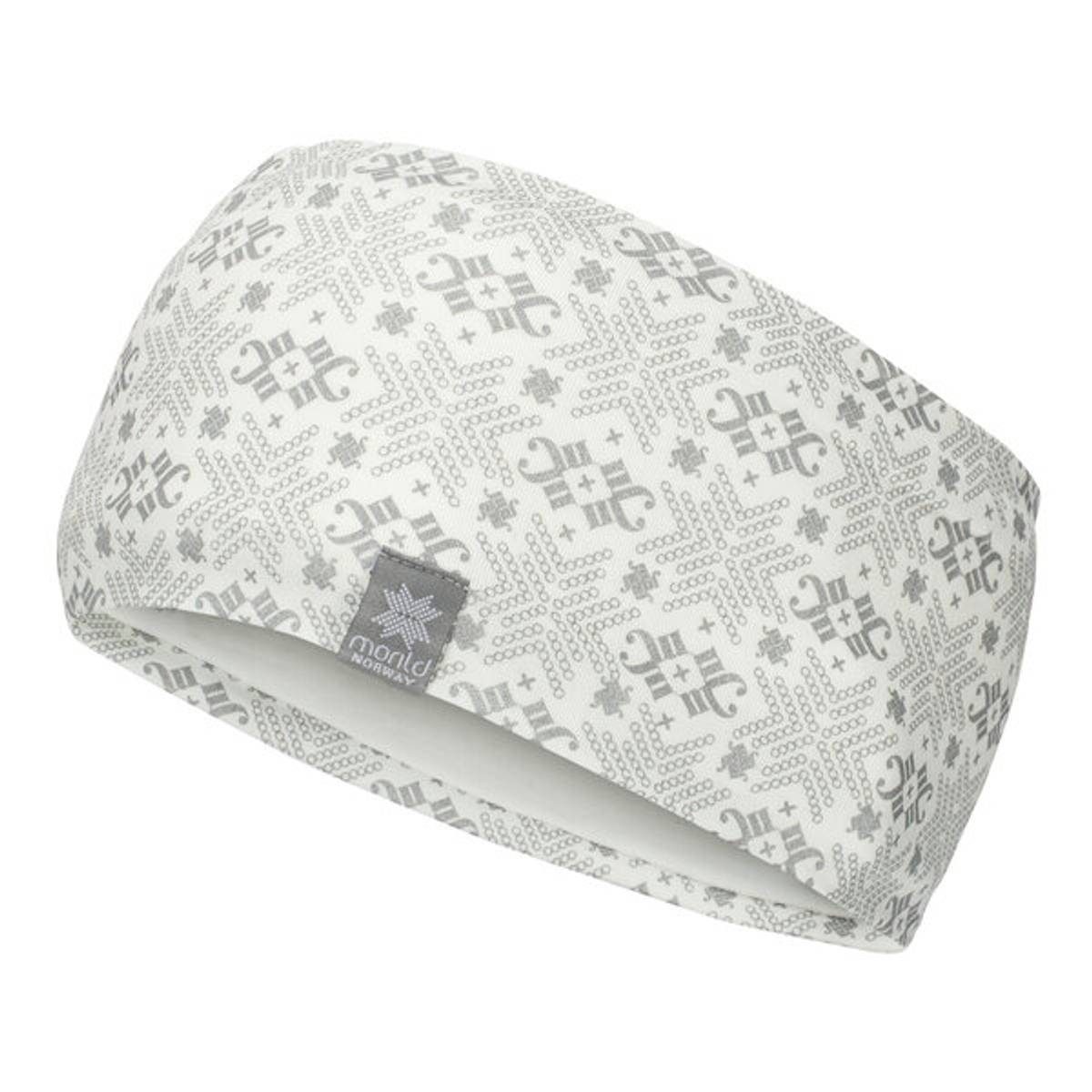 Morild Glitre Junior pannebånd med refleks, hvit