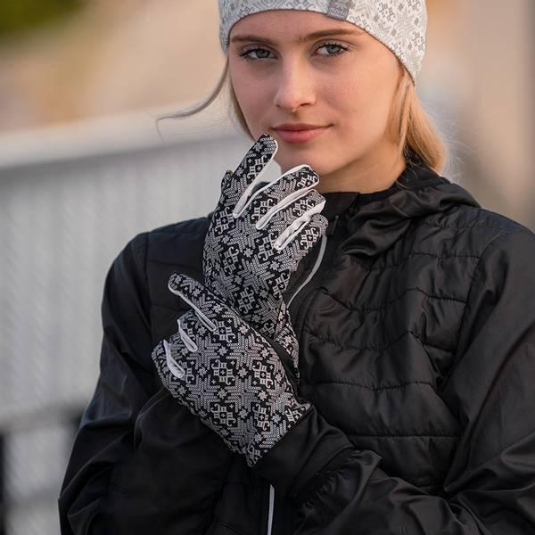 Bilde av Morild Glitre hansker med refleks, hvit