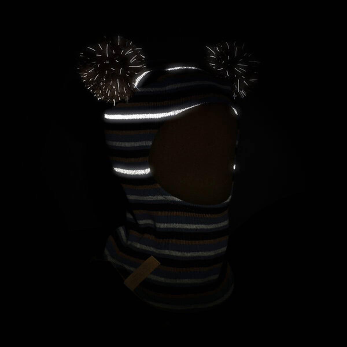 Morild Fonn balaklava med refleks, brunstripet
