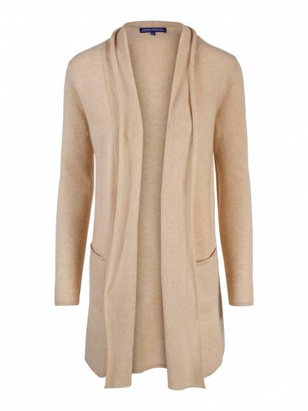 Bilde av Lys organic cashmere jakke med splitt