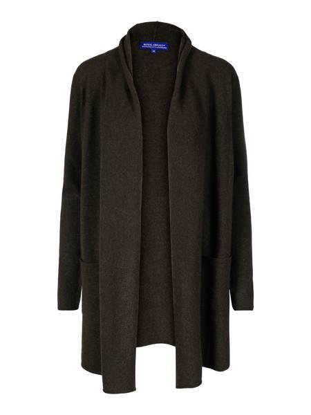 Bilde av Mosegrønn cashmere jakke med splitt