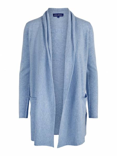 Bilde av Lyseblå cashmere jakke med splitt