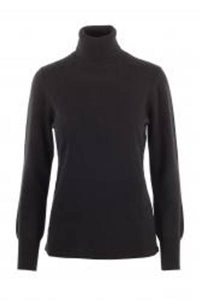 Bilde av Sort cashmere genser m/høy hals
