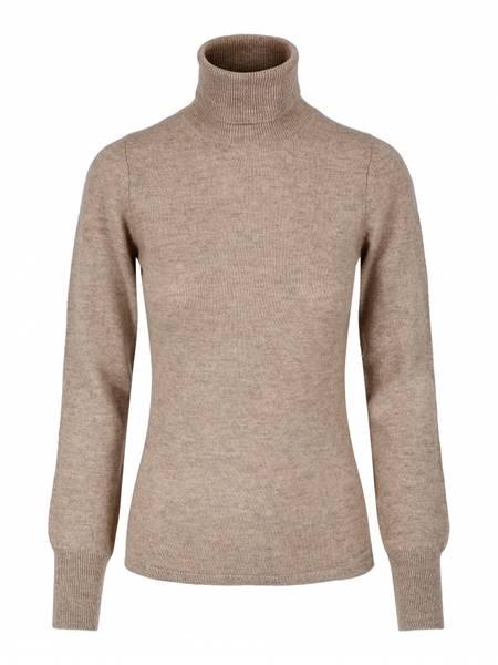 Bilde av Organic  cashmere genser m/høy hals