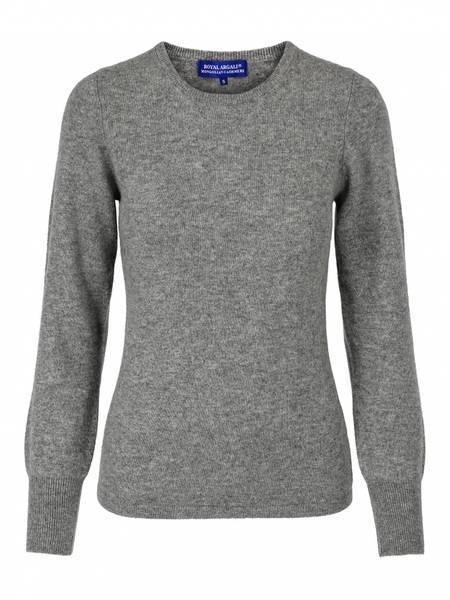Bilde av Grå cashmere genser m/rund hals