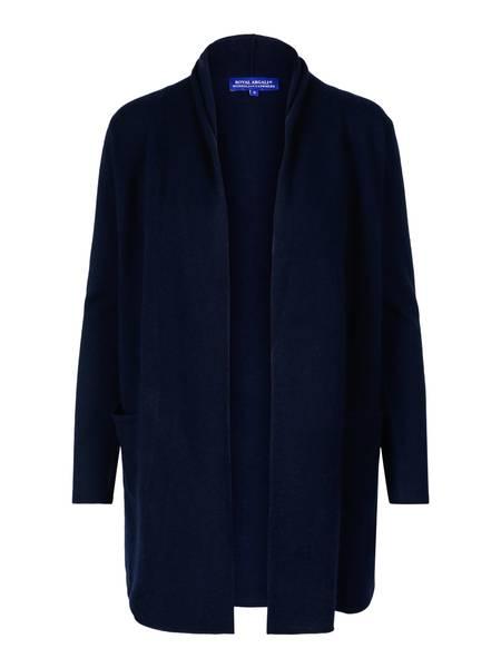 Bilde av Marineblå cashmere jakke med splitt