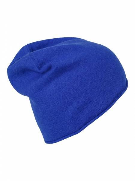 Bilde av Enkel blå cashmere lue