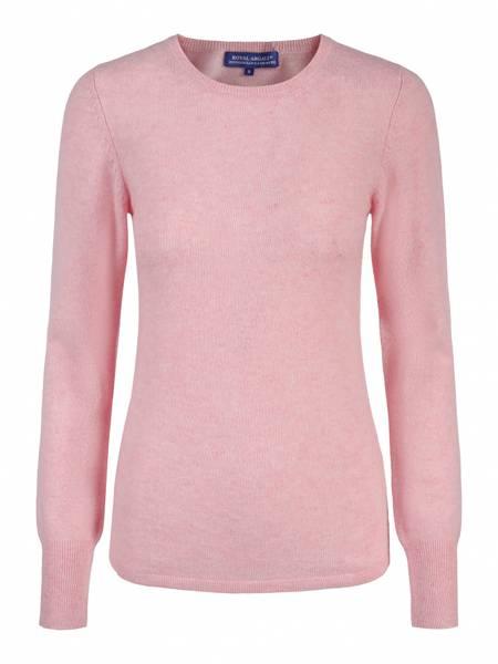 Bilde av Pink Marl cashmere genser m/rund hals
