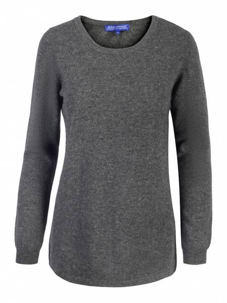 Bilde av Grå cashmere genser med splitt
