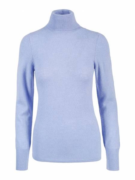 Bilde av Lyse blå cashmere genser m/høy hals