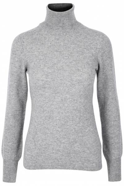 Bilde av Grå cashmere genser m/høy hals