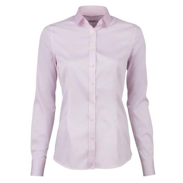 Bilde av Light Pink Feminine Shirt In Satin Stretch