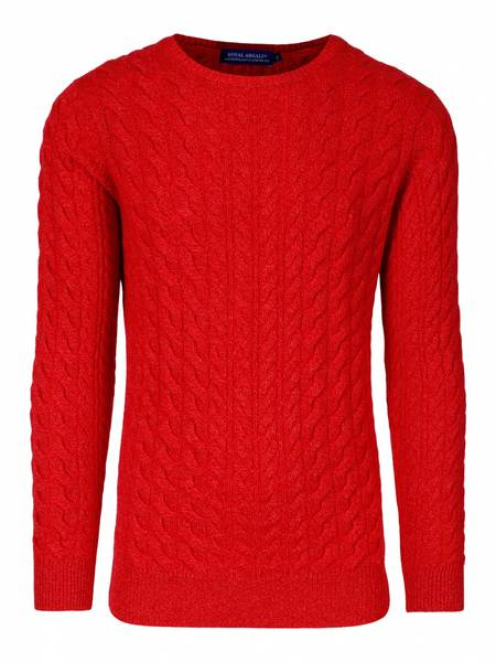 Bilde av Mellert fersken cabel Cashmere genser 4 ply.