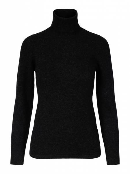 Bilde av Koksgrå cashmere genser m/høy hals