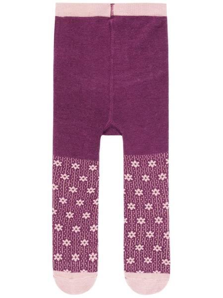 Bilde av NbfWak ull strømpebukse - Prune Purple