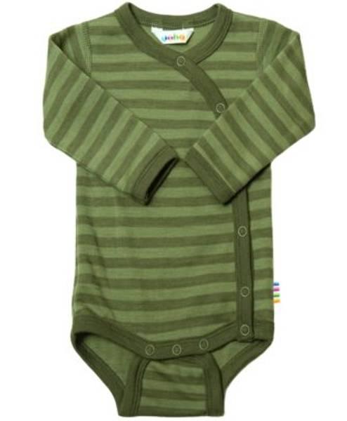 Bilde av Joha Omslagsbody i ull - Stripet grønn