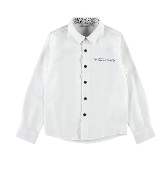 Bilde av NkmFussel ls Shirt - Bright White