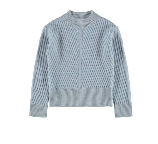 Bilde av Nkftuttie ls knit - Dusty blue