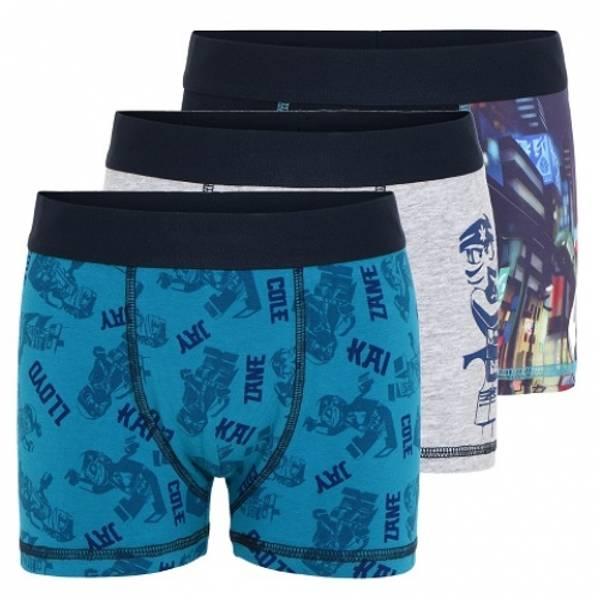 Bilde av Ninjago boxershorts 3pk - Petrol/grå/navy