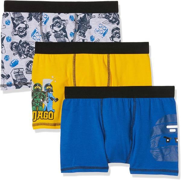 Bilde av Ninjago boxershorts 3pk - Gul/Blå/Grå
