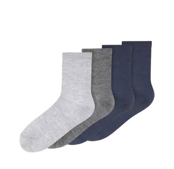 Bilde av Nkmwak wool 4-pk sock - Grey/blue