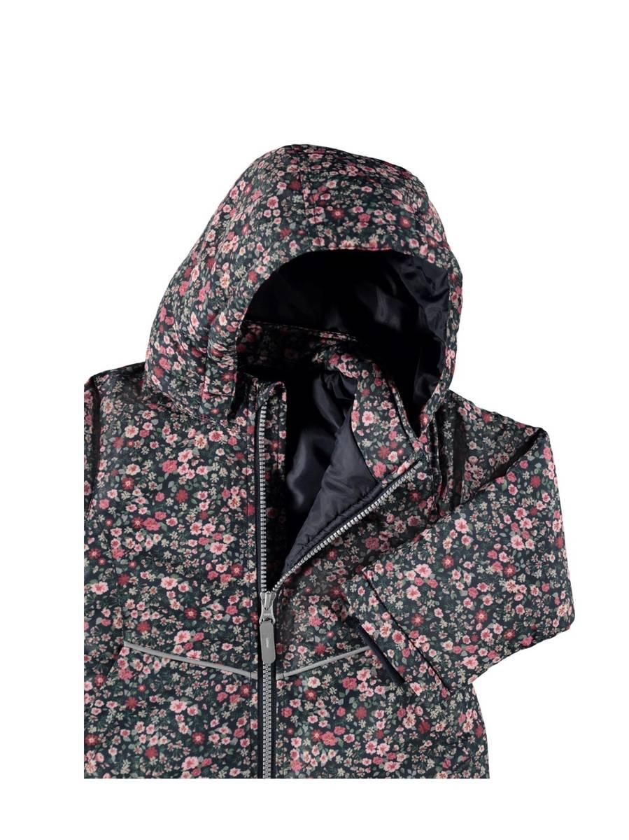 NmfMaxi Jacket Petit Flower - Dark Sapphire