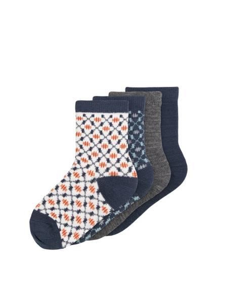 Bilde av NmmWak Wool 4-pack Sock - Ombre Blue