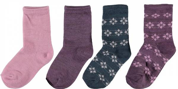 Bilde av NmfWak Wool 4-pack Sock - Burnished Lilac