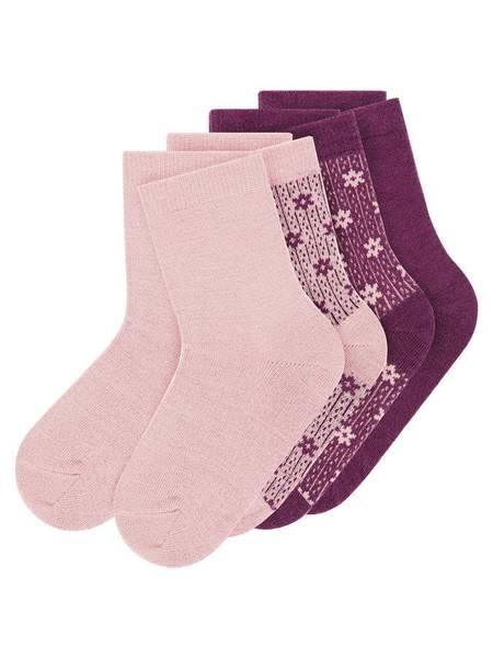 Bilde av NmfWak Wool 4-pk Sock - Woodrose