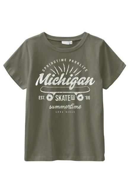 Bilde av NkmVictor ss Top t-shirt - Ivy Green