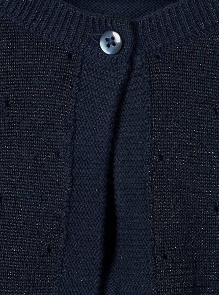 Bilde av Nmfrigmor ls knit bolero - dark sapphire