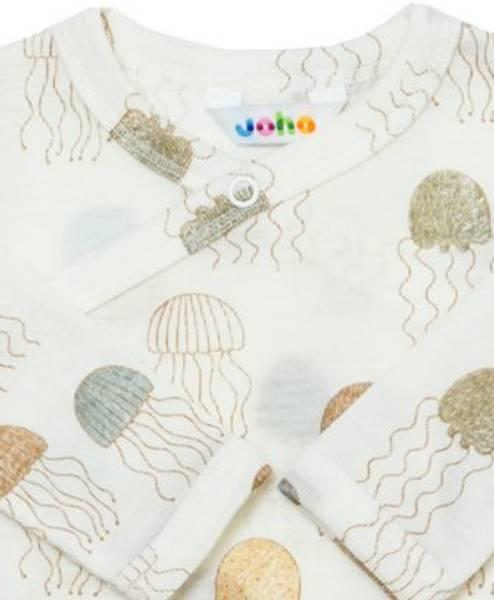 Bilde av Jellyfish omslagsbody ull/silke - Print
