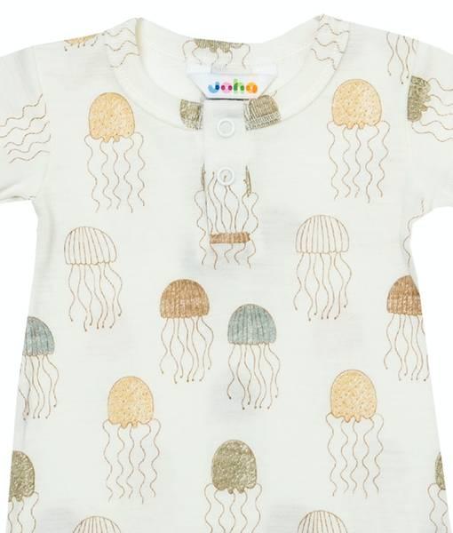 Bilde av Jellyfish sommerdrakt gutt ull/silke - Print