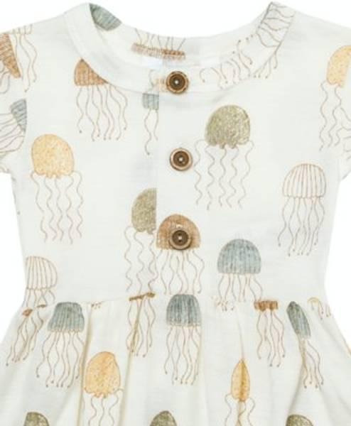 Bilde av Jellyfish Sommersuit jente ull/silke - Print