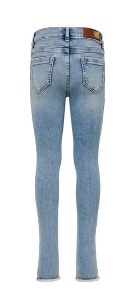 Bilde av KonBlush skinny raw jeans - Light Blue Denim