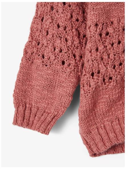 Bilde av NbfBonetta ls knit cardigan - Withered Rose